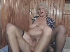 Gray hair and stockings on a fucked granny slut tubes