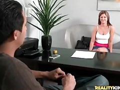 First timer gets her ass measured and masturbates tubes