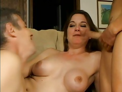 Cocksucking and ass fucking guys in threesome tubes