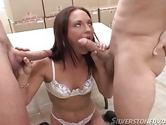 Little white bra on a cute girl sucking dicks tubes
