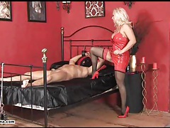 Horny mistress lana rides cock and makes her slave cum tubes
