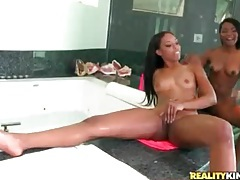 Licking skinny black girls in threesome tubes