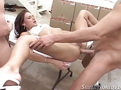 Anal hardcore with a little titty chick fucking tubes