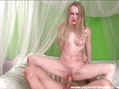 Beautiful girl with great body blows and rides him tubes