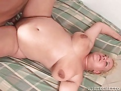 Hairy fat chick fucked in her tight box tubes