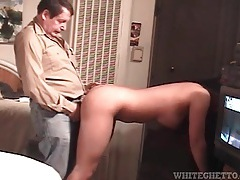 Big tits amateur bends over for doggystyle tubes