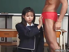 Japanese teen sucks and swallows teacher cock uncensored tubes