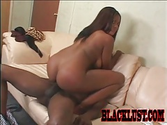 She sits her cunt on a big black cock tubes