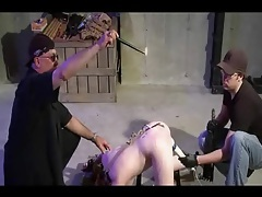 Anal hook and spanking threesome tubes