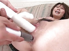 Fingering and toy fucking her ass and pussy tubes