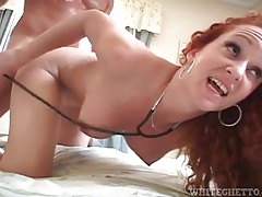Slim body redhead with big tits fucked doggystyle tubes