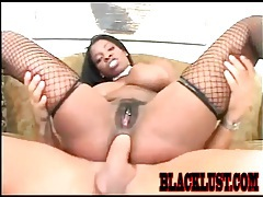Interracial anal sex with slutty black chick tubes