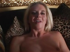 Rubbing black cock around her ass while she rubs tubes
