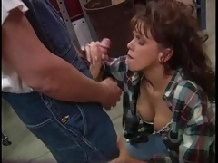He fucks the slut in a plaid shirt from behind tubes