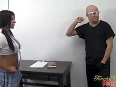 Muscular schoolgirl dominates her teacher 1 of 2 tubes