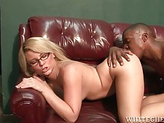 Big ass chick in glasses gets on a hard dick tubes