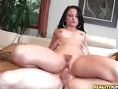 Sexy pubic hair on a hottie riding boner tubes