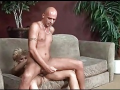 Skinny guy sits on shemale cock and loves anal tubes