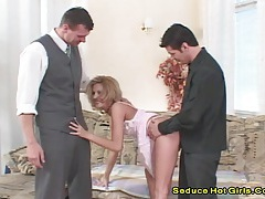Melissa black -two big cock screwed her ass and got facial tubes