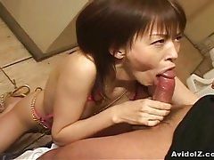 Cute japanese babe sucks cock uncensored tubes