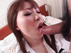 Girl in skirt gives a sexy japanese blowjob tubes