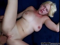 Girl rims his asshole and gets fucked in the pussy tubes