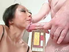 Asian is a perfect deepthroat cocksucker tubes