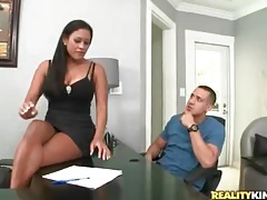 Busty office beauty pleasures his big cock tubes
