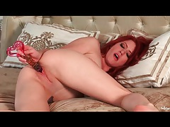 Hot redhead elle alexandra fucks a toy tubes