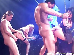 Neon body paint on sluts fucking in group scene tubes