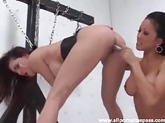 Dildo fucks the chained up lesbian jessica jaymes tubes