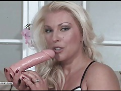 Hot milf leggy lana gives cock deep throat and then takes cum in her face tubes
