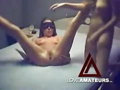 Strapon cock makes homemade lesbian sex better tubes