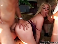 Using a curvy blonde girl for their sexual pleasure tubes