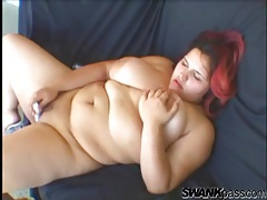 Fatty has solo dildo sex outdoors tubes