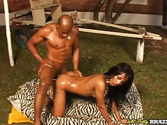 Big cock ass fucks a beautiful brazilian girl tubes