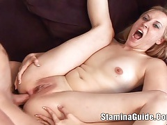 Young amatuer babe fucked in the ass and cum tubes