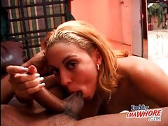 Sucking his knob is fun for the young lady tubes