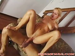 His hugely thick cock fucks her tight young ass tubes
