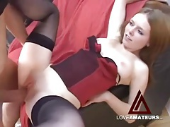 Sexy redhead with perfect tight pussy fucked in pov tubes