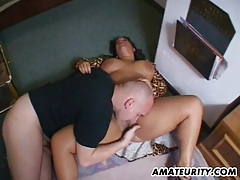 Chubby and busty amateur milf action with facial tubes