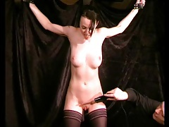 Electro shock play with a tied up busty girl tubes