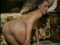 Pantyhose on pornstar penny flame tubes