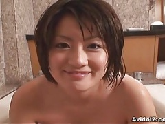 Japanese babe washes cock then uses it wisely uncensored tubes