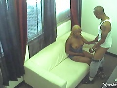 Security camera footage of his cock fucking black chick tubes