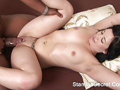 Amy starz - interracial fucked and sucking big cock by brunette chick tubes