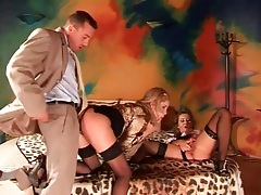 Girls in gorgeous blouses fucked by a stud tubes