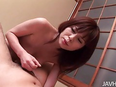Quick titjob and a lusty pov cock ride tubes