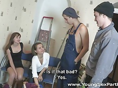 Young sex parties - fucking instead of painting tubes
