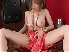 Big shiny japanese tits on this solo beauty tubes